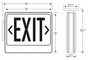 Led Exit Sign With Battery Backup  Remote Capable   Sku