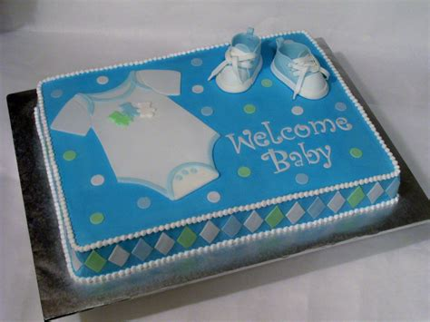 Baby Shower Sheet Cakes For by Baby Boy Cake Made For A Friend S Baby Shower 11 X 15