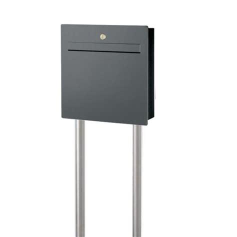 briefkasten mit zeitungsfach anthrazit halux2 briefkasten freistehend mit zeitungsfach anthrazit