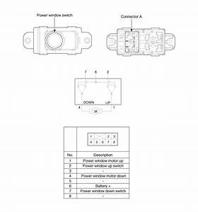 Hyundai Accent  Passenger And Rear Power Window Switch