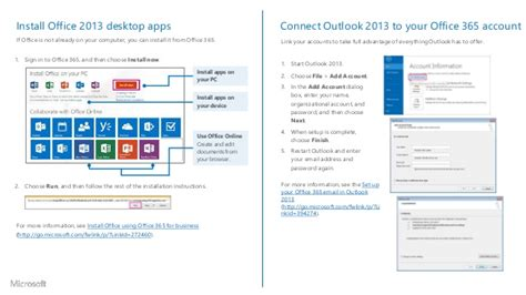 Office 365 Outlook Desktop Setup by Office365 Office2013 Office
