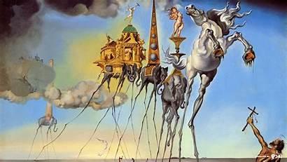 Dali Salvador Clock Crucifixion Hipwallpaper Paintings
