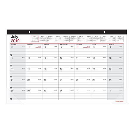 Office Depot Hours On July 4 by Office Depot Brand Monthly Academic Desk Calendar 17 34 X