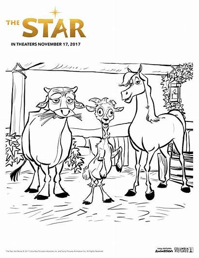 Coloring Star Pages Sony Animation Printable Sheet