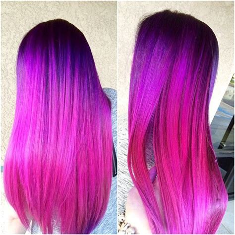 Purple To Hot Pink Colormelt Hair Color Purple Bright