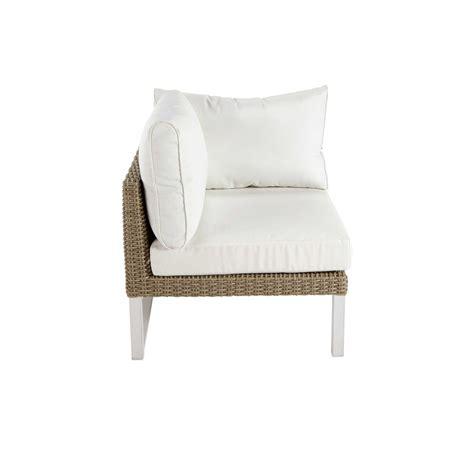 canapé de jardin aluminium accoudoir gauche de canapé de jardin en aluminium blanc
