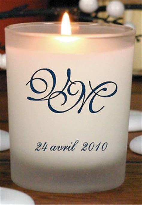 bougie personnalisable alcante bougie parfum 233 e pour mariage avec initiales remerciements