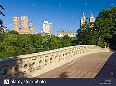 Bow Bridge and The Lake in Central Park, New York City