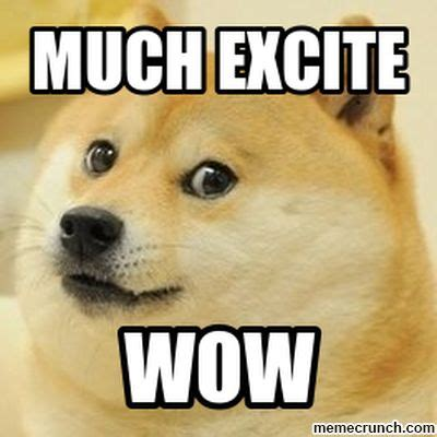 Doge Meme Much Excite
