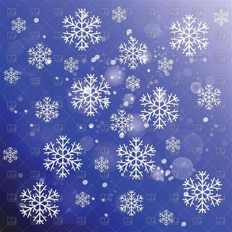 Blue Snowflake Background Clipart by Snowflakes On Blue Winter Background Vector Image Of