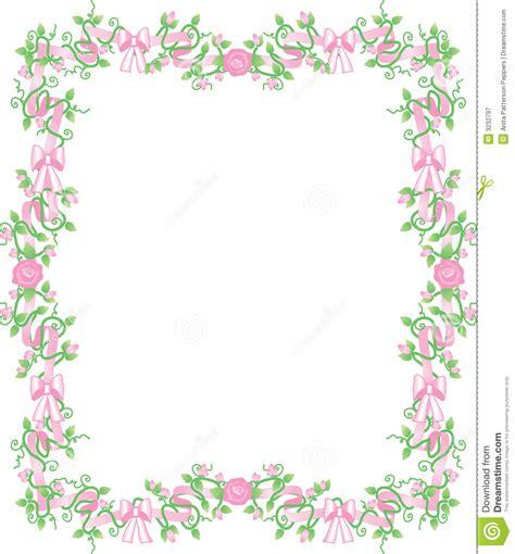 Pink Rosebud Border Stock Vector Image Of Delicate