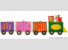 Circus Train Craft Kids' Crafts FirstPalettecom