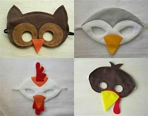 Faschingsmasken Selber Machen : vogelmasken eule huhn m we und spatz aus filzstoff geschenkideen tiermasken basteln ~ Eleganceandgraceweddings.com Haus und Dekorationen
