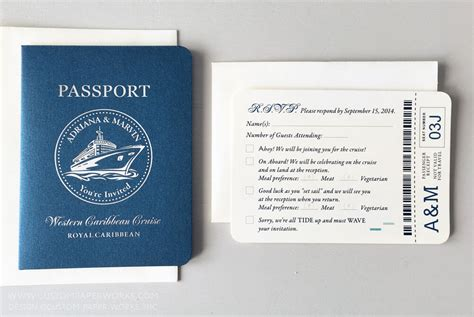 Passport Invitations For A Cruise Ship Wedding U2013 Custom Paper Works