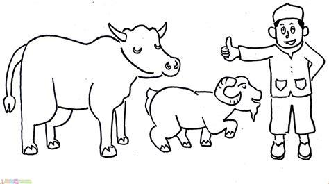 30 gambar mewarnai sapi perah kartun