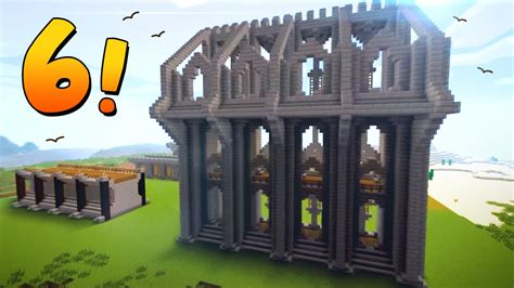 minecraft wall ideas  designs  castles towns youtube