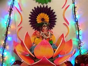 Home Ganpati Decoration Ideas - YouTube