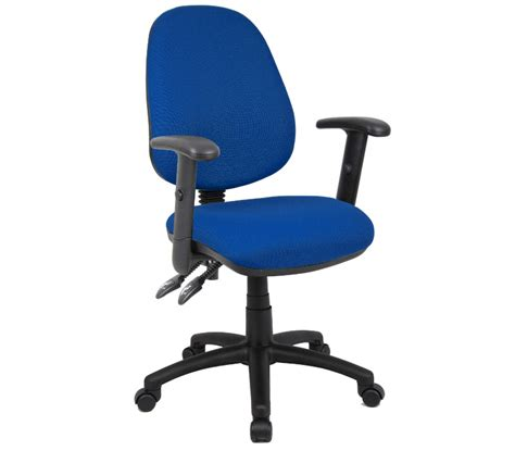 vantage operator chair with adjustable arms blue three