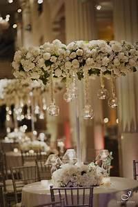 White floral chandelier centerpieces flower