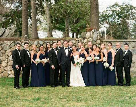 navy and black bridal party elizabeth anne designs the