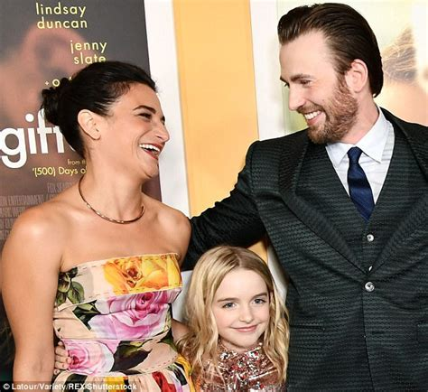 Chris Evans awkwardly shakes hands with ex Jenny Slate ...