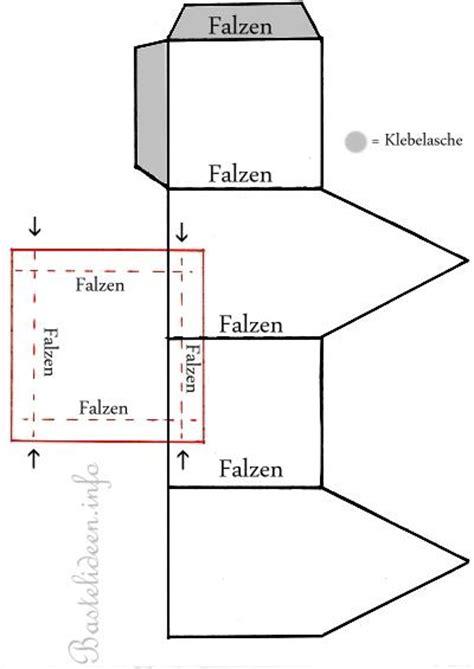 kostenlose bastelvorlage teelichthaus
