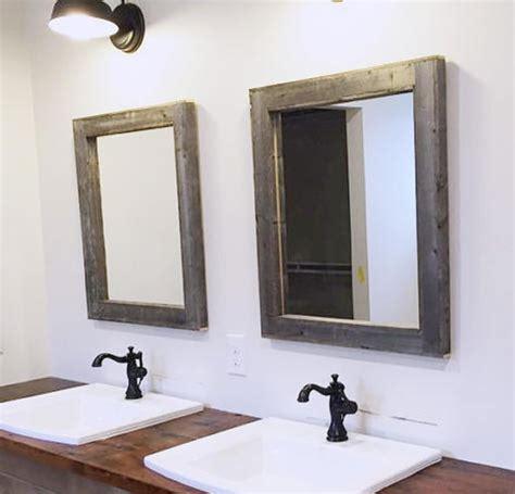 wooden bathroom mirrors 2 reclaimed wood mirrors size 28 x 34 rustic bathroom mirror 15225