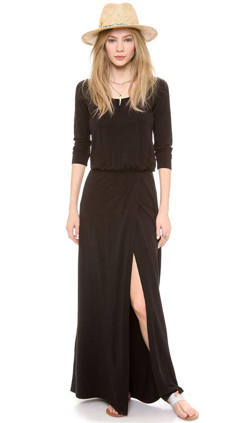 lyst splendid maxi dress splendid high slit maxi dress black in black lyst