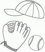 Coloring Baseball Glove Popular sketch template