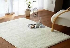 livraison gratuite super doux couleur unie riz blanc tapis With tapis de sol blanc