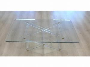 Table Basse En Plexiglas : table basse pi tement en croisillon en plexiglas ~ Teatrodelosmanantiales.com Idées de Décoration