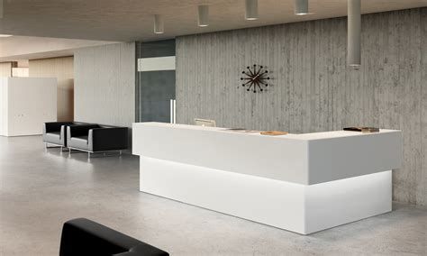 front desk reception furniture new lobby and front desk we install construction management