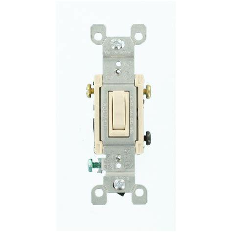 4 wire fan switch home depot leviton 15 amp 3 way toggle switch light almond r56 01453
