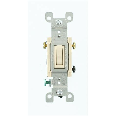 Leviton Amp Way Toggle Switch Light Almond
