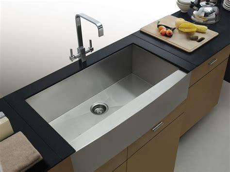 Kitchen Sinks : Aquarius Square Undermount Apron Front Farmhouse Stainless