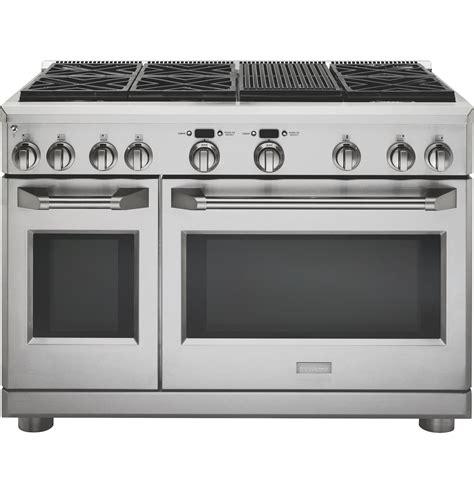 monogram  dual fuel professional range   burners  grill natural gas zdpnrpss
