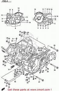 Suzuki Vs800gl Intruder 1998  W  Usa  E03  Crankcase