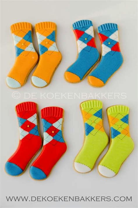 sock cookies  de keoken bakkers multi argyll art
