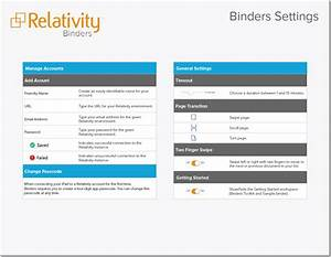 Binders Quick Reference