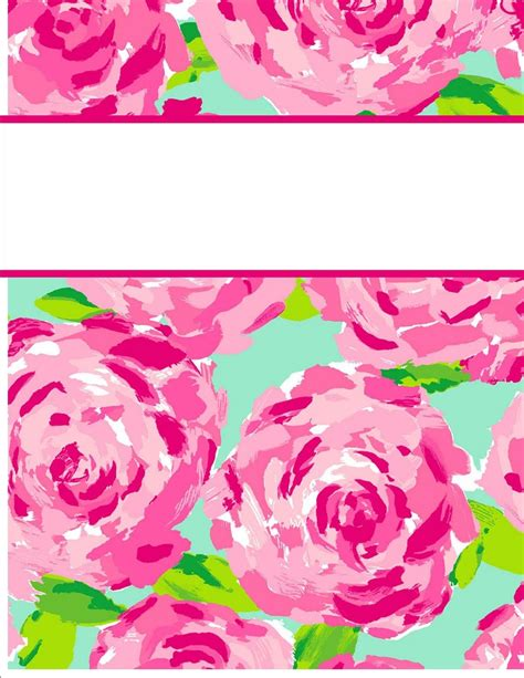 editable binder cover templates binder cover template with floral watercolor editable free binder cover templates