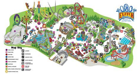 park map elitch gardens theme  water park