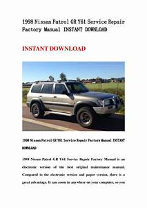 1998 Nissan Patrol Gr Y61 Service Repair Factory Manual