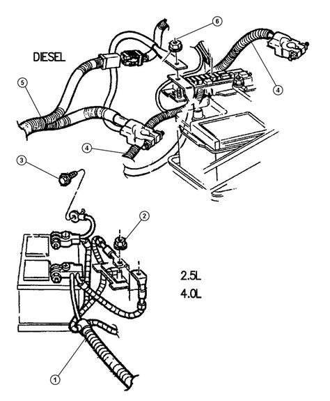 Jeep Battery Wiring Diagram by 2012 Jeep Grand Wiring Battery 4 0l Engine