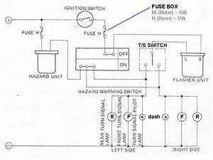 Hazards And Turn Signal Wiring Diagram   Datsun 1200 Club