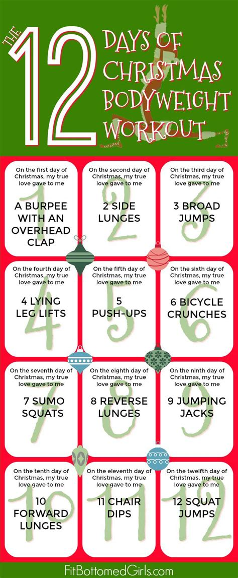 The 12 Days Of Christmas Bodyweight Workout  Fit Bottomed Girls