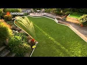 Gardena Bewässerung Anleitung : gardena aquacontour versenkregner youtube ~ Lizthompson.info Haus und Dekorationen