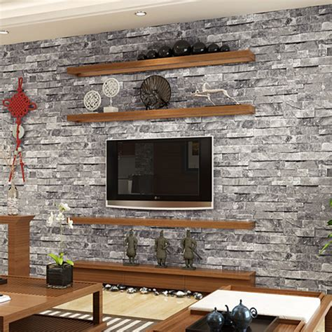 3d Brick Wallpaper South Africa by 3d Pvc Brick Wall Paper Rustic Vintage
