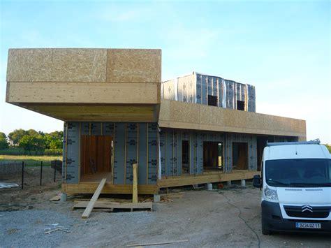 maison bois toit plat en kit myqto