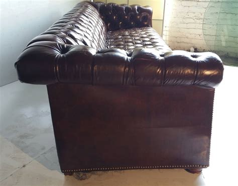 brown leather chesterfield sofa brown leather button tufted chesterfield sofa for