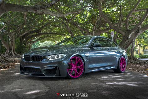 Bmw M4 On Pink Wheels Poses For Breast Cancer Awareness